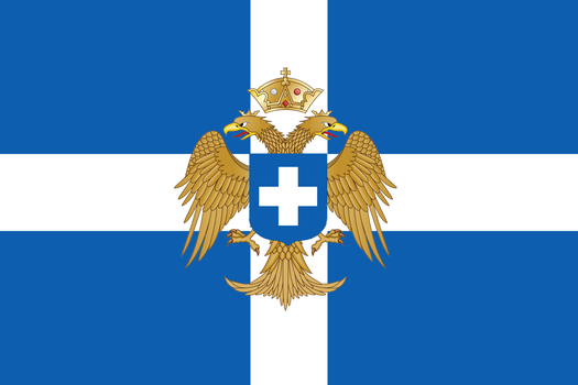 Flag of the Byzantine Kingdom of Greece by ramones1986