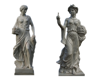 (2) Lady Statues Part 2 PNG by chaseandlinda