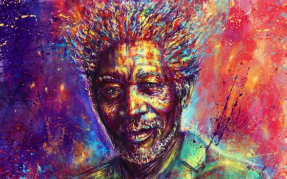 Morgan Freeman by Ururuty