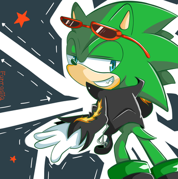 Scourge the Hedgehog by Ipun