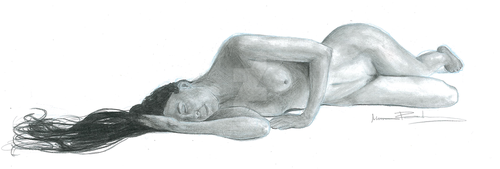 Life drawing: woman by mettetettee