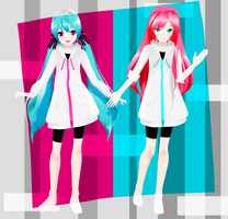 .:Model DL:. LAT Mirai-Style Interviewer Luka/Miku by MMDAnimatio357