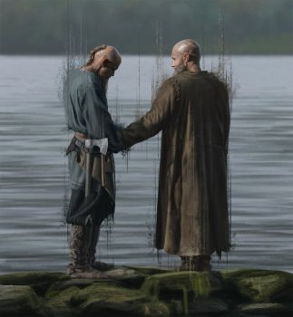 Floki and Ragnar by Ejve