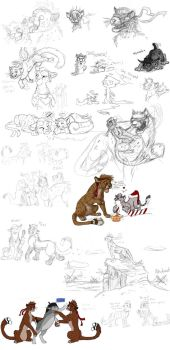 Sketchdump of 2013 Part 8 by timba