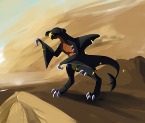 A wild shiny garchomp appears! by lauraacan