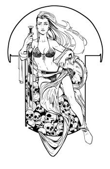 Goddess Sonja by Jay DeFoy with inks by me by seggleston