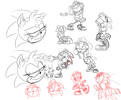 Rosy Sketches by Piggybank12