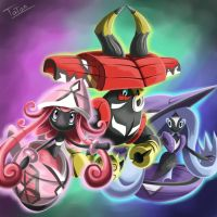 Tapu Lele Tapu Fini Tapu Bulu Pokemon Sun and Moon