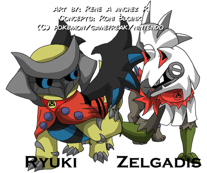 Ryuki and Zelgadis [Giratina and Silvally] by Rene-Sanchez