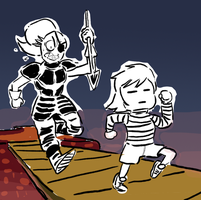 Undertale - The Chase by DeydW