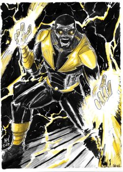 Weekly Sketches: Black Lightning by Kmadden2004
