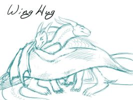 Wing Hug Study - opaque by NakaseArt