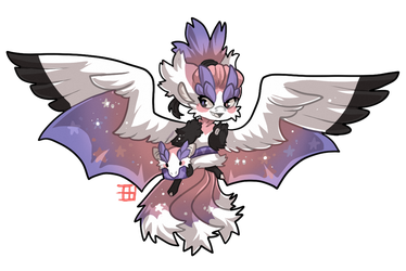 #1268 Mythical BB - Flying fox Dragon by griffsnuff