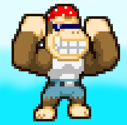 MLSS Funky Kong by PxlCobit