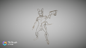 In Process: Dingo - Drawn in Google Tilt Brush by lightningdogs