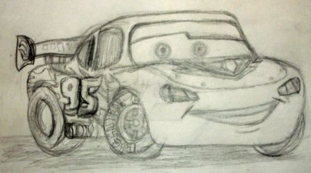 Quick Sketch: Lighting McQueen by InkArtWriter