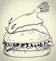 Nudibranch Burger by natasian