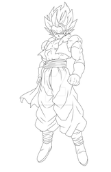 Gogeta Lineart by BrusselTheSaiyan