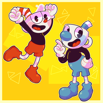 The Adventures of Cuphead and Mugman! by roboticbee