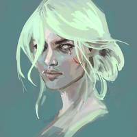 Ciri Portrait from Witcher 3 by Scendre-Lab