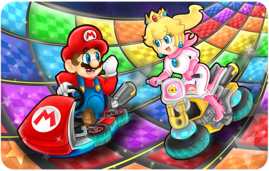 .:Going around over the rainbow road:. by ThePinkMarioPrincess