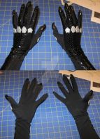 arkham city catwoman costume gloves by hollymessinger