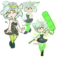 Splatoon: Marie doodles. by Veonara