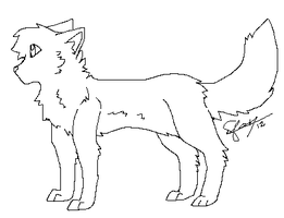 .:Wolf Lineart:. by Nouchie