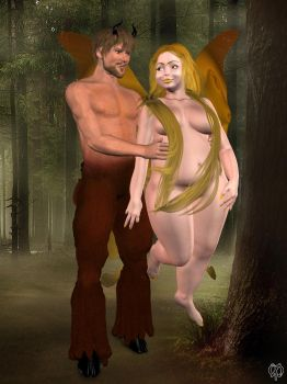 Fun with my faun by VirtualShirley