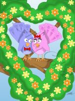 Love Birds by amy3dtd