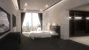 Luxury Hotel Room by kwant11