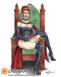 Black Queen pinup by mechangel2002