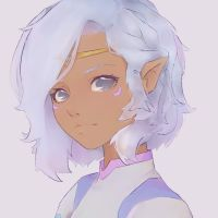 Allura (from Voltron) with short hair by mineeka