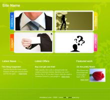 Downloadable Funky Business Web Layout PSD by amadeus-love