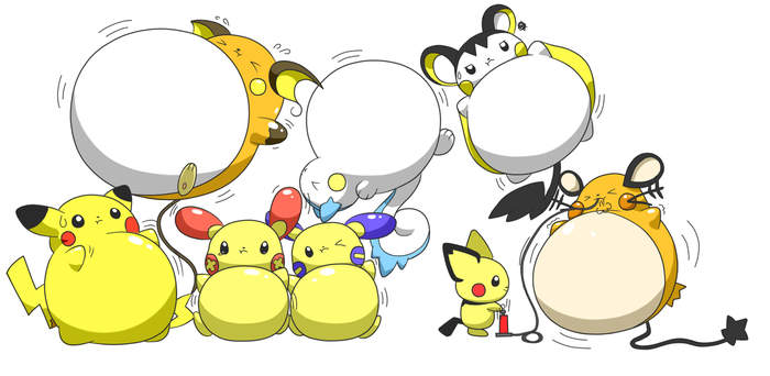 Electric Pokemon Balloons by selphy6