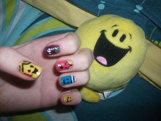 Mr. Men and Little Miss Nails by RoxysSlushPuppie