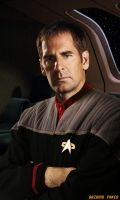 Scott Bakula Captain Archer in DS9 by gazomg