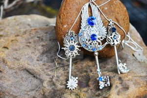 Celestial key necklaces by PrincessSongBird