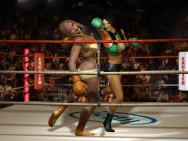 23 Lana Sent To The Ropes by cpunch