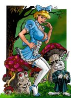 Power girl in wonderland Q by FTacito