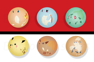 Minimalist Pokemon Button Set