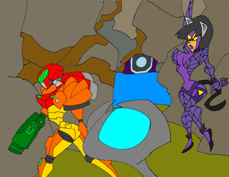 Cat fight on metroid by timeware