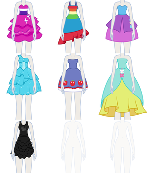 EqG Dress Up - preview (dresses) by Liggliluff