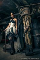 White underbust corset dress 2012 collection ''' by Esaikha