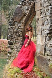 Stock 03 Girl with red dress by clair0bscur