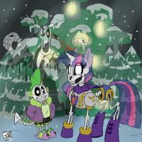 Snowdin Skelebronies by Sanyo2100