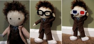 Tenth Doctor Plushie (David Tennant) by Mrs-Lovetts-Meat-Pie