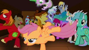 My Little Pony Rave Party - Scootaloo by CartoonAnimeFan2000