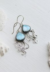 Jellyfish earrings by UrsulaJewelry