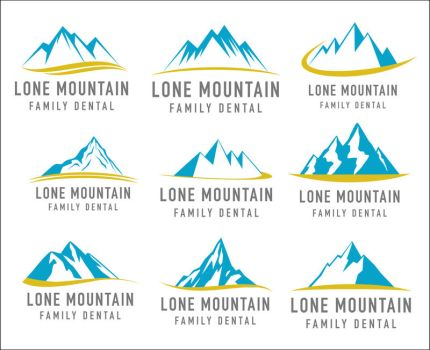 Lone Mountain Family Dental Logo Ideas 2 by INF3CT3D-D3M0N